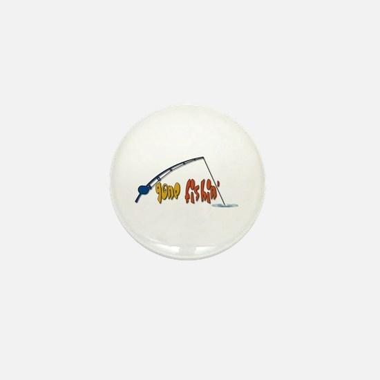 Funny Fishing Humor Mini Button