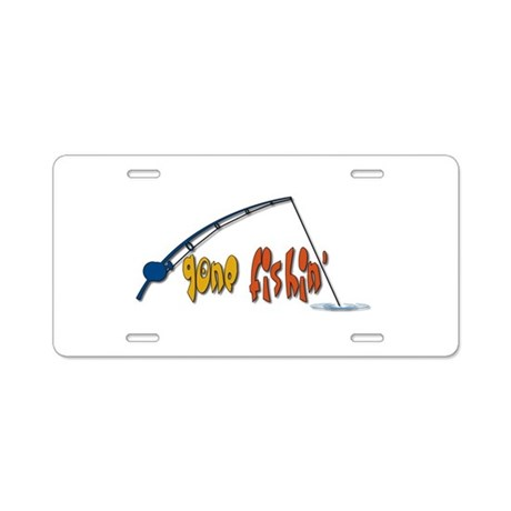 Funny fishing humor aluminum license plate by zoomwear for Colorado one day fishing license