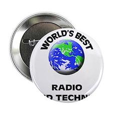 """World's Best Radio Sound Technician 2.25"""" Button"""