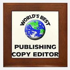 World's Best Publishing Copy Editor Framed Tile