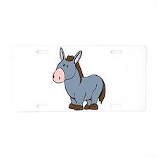 Cartoon Donkey Aluminum License Plate