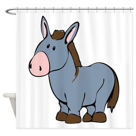 Cartoon Donkey Shower Curtain By IStudioDesigns