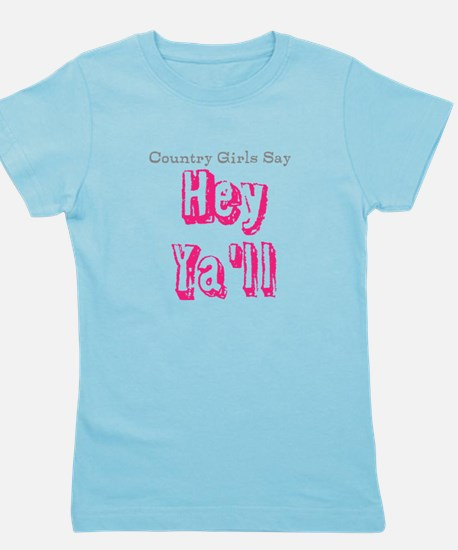 Unique Hey yall Girl's Tee