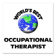 World's Best Occupational Therapist Square Car Mag