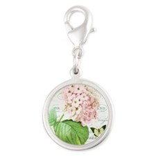 Vintage French botanical pink hydrangea Charms