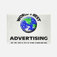 World's Best Advertising Copywriter Rectangle Magn