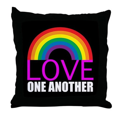 Love One Another Throw Pillow