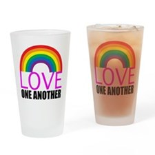 Love One Another Drinking Glass