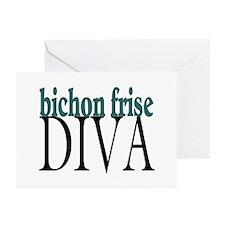 Bichon Frise Diva Greeting Cards (Pk of 10)