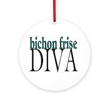 Bichon Frise Diva Ornament (Round)