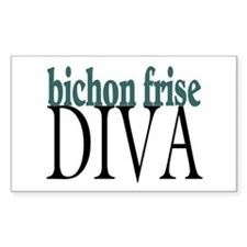 Bichon Frise Diva Rectangle Decal