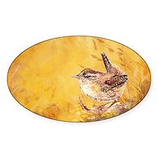 Watercolor Wren Bird Decal