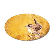 Watercolor Wren Bird Decal Wall Sticker