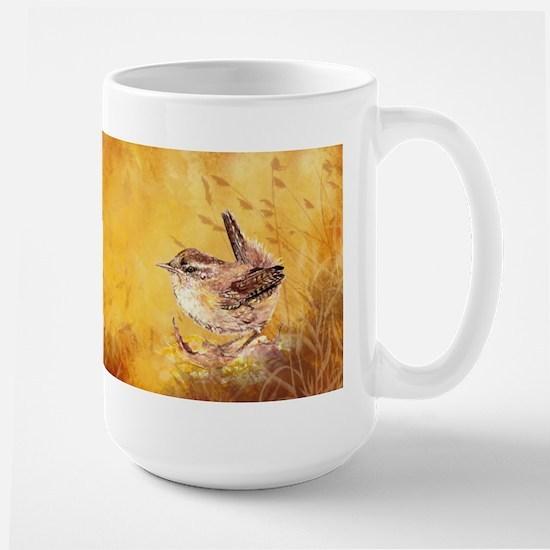 Watercolor Wren Bird Ceramic Mugs