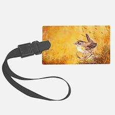 Watercolor Wren Bird Luggage Tag