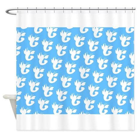 5x7 bathroom d cor baby blue lobster boy silhouette 22 shower curtain