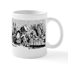 Vintage Alice Text And Border Small Mug