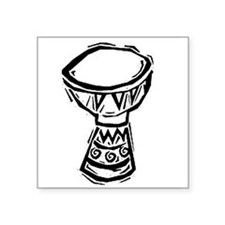 Djembe Drum woodcut Sticker