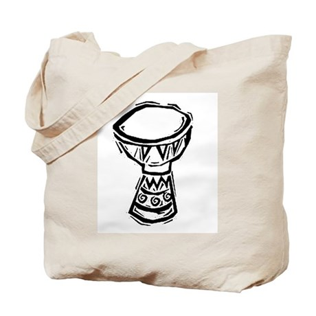 Djembe Drum woodcut Tote Bag