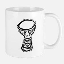 Djembe Drum woodcut Mug