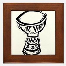 Djembe Drum woodcut Framed Tile