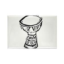 Djembe Drum woodcut Rectangle Magnet