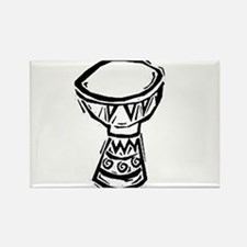 Djembe Drum woodcut Rectangle Magnet
