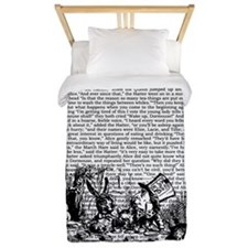 Vintage Alice Text And Border Twin Duvet
