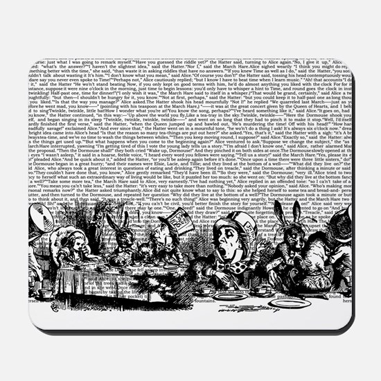 Vintage Alice Text And Border Mousepad