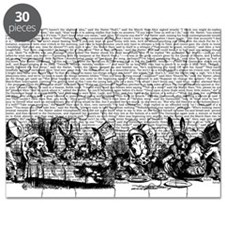 Vintage Alice Text And Border Puzzle