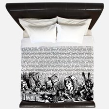 Vintage Alice Text And Border King Duvet