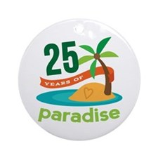 25 Years Of Paradise 25th Anniversary Ornament (Ro