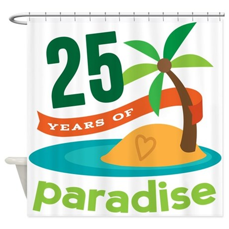25 Years Of Paradise 25th Anniversary Shower Curta