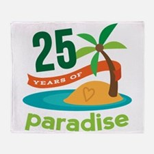 25 Years Of Paradise 25th Anniversary Throw Blanke