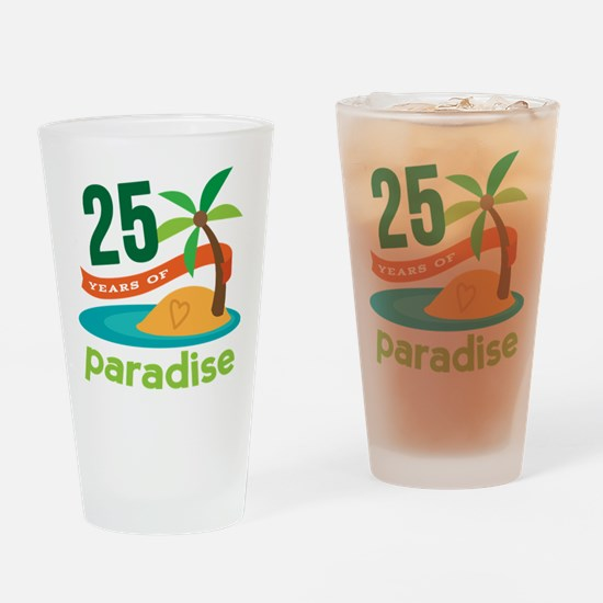 25 Years Of Paradise 25th Anniversary Drinking Gla
