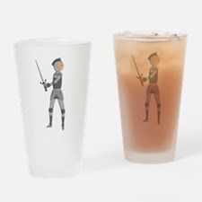 Armored Knight Drinking Glass
