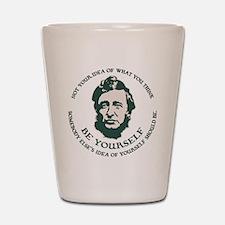 Thoreau - Be Yourself Shot Glass