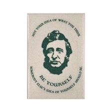 Thoreau - Be Yourself Rectangle Magnet