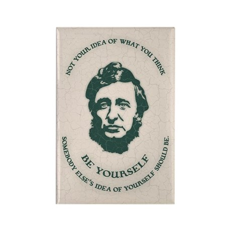 Thoreau - Be Yourself Rectangle Magnet (100 pack)