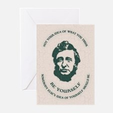 Thoreau - Be Yourself Greeting Cards (Pk of 10)