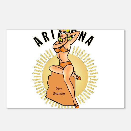 Vintage Arizona Pinup Postcards (Package of 8)