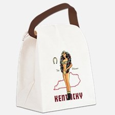 Vintage Kentucky Pinup Canvas Lunch Bag