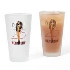 Vintage Kentucky Pinup Drinking Glass