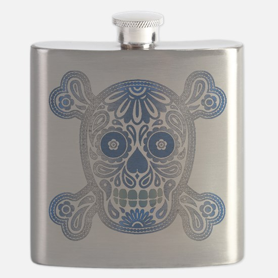 Day of the Dead Skull Flask
