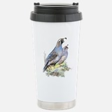 Watercolor California Quail Bird Stainless Steel T