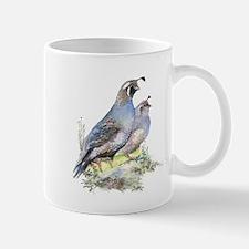 Watercolor California Quail Bird Mug