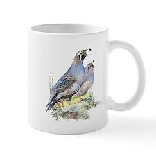 Watercolor California Quail Bird Small Mug