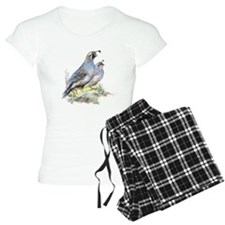 Watercolor California Quail Bird pajamas