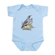 Watercolor California Quail Bird Infant Bodysuit
