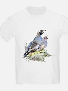 Watercolor California Quail Bird T-Shirt